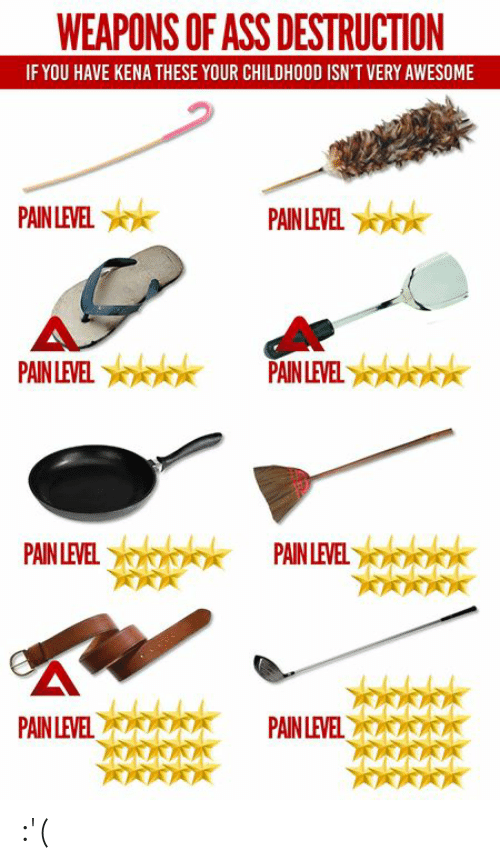 Kena: WEAPONS OF ASS DESTRUCTION  IF YOU HAVE KENA THESE YOUR CHILDHOOD ISN'T VERY AWESOME  AIN LEVEL  AINLEVEL  PAINLEVELPAINLEVEL  AINLEVELPAINLEVE  PAIN LEVE  PAINLEVELA :'(