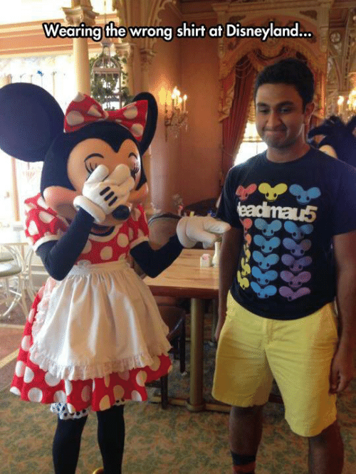 disneyland: Wearing the wrong shirt at Disneyland...  eadimau5