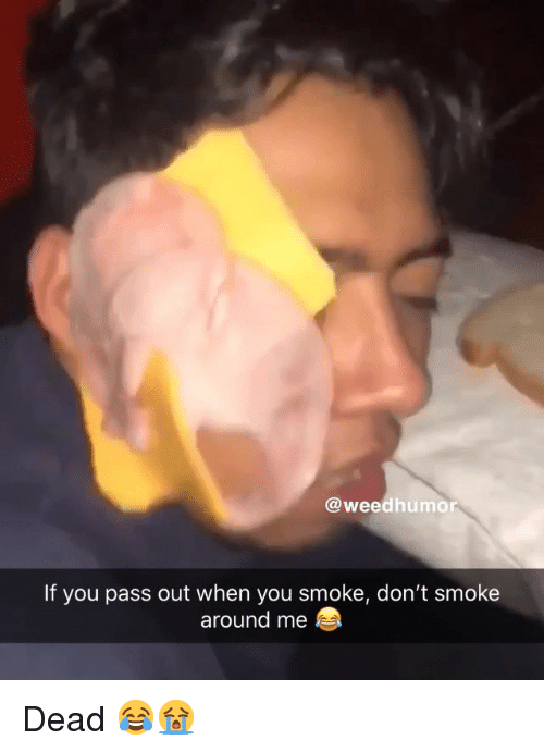 pass out: @weedhumor  If you pass out when you smoke, don't smoke  around me Dead 😂😭