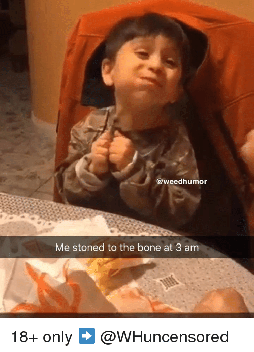 Weed, Marijuana, and Bone: @weedhumor  Me stoned to the bone at 3 am 18+ only ➡️ @WHuncensored