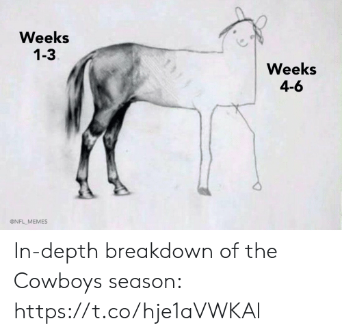 4 6: Weeks  1-3  Weeks  4-6  @NFL_MEMES In-depth breakdown of the Cowboys season: https://t.co/hje1aVWKAl