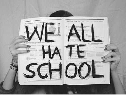 Hate School: WEi ALL  HATE  SCHOOL