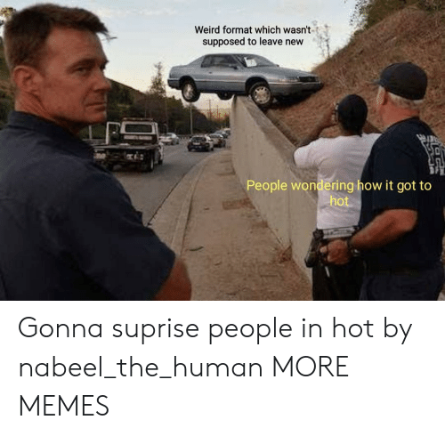 Dank, Memes, and Target: Weird format which wasn't  supposed to leave new  People wondering how it got to  hot Gonna suprise people in hot by nabeel_the_human MORE MEMES