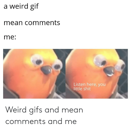 And Me: Weird gifs and mean comments and me