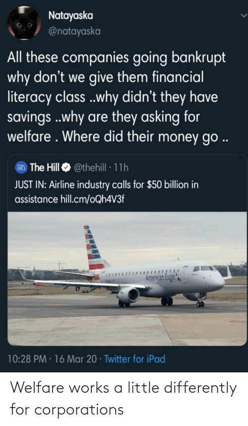 A Little: Welfare works a little differently for corporations