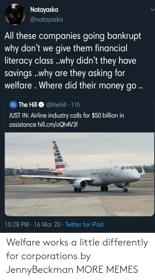 welfare: Welfare works a little differently for corporations by JennyBeckman MORE MEMES