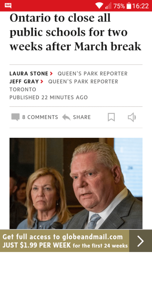 Doug Ford: Well boys, Doug Ford has ordered it