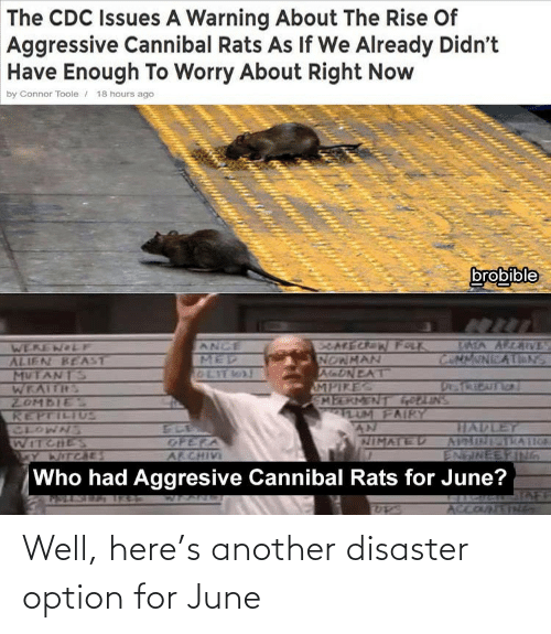 June: Well, here's another disaster option for June
