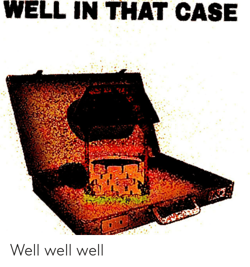 case: WELL IN THAT CASE Well well well