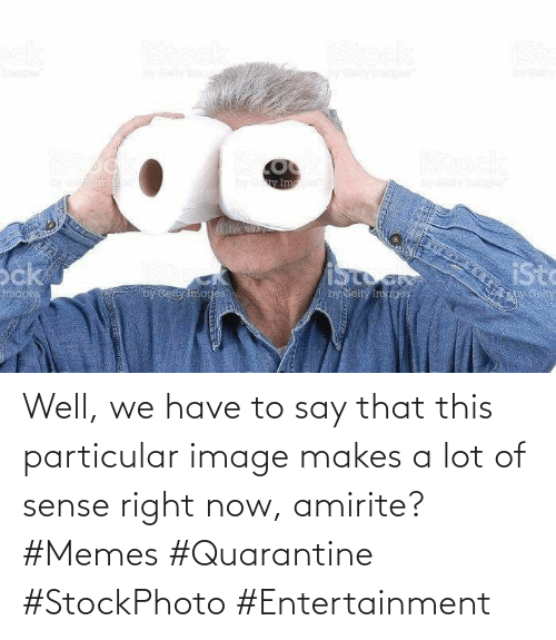 Sense: Well, we have to say that this particular image makes a lot of sense right now, amirite? #Memes #Quarantine #StockPhoto #Entertainment