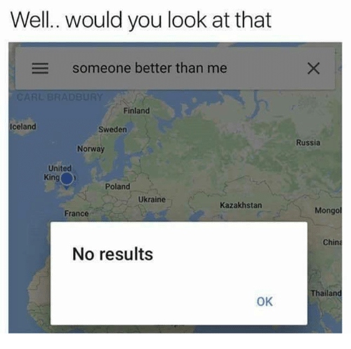 Icelandic: Well. would you look at that  Someone better than me  Finland  Iceland  Sweden  Russia  Norway  United  King  Poland  Ukraine  Kazakhstan  France  Mongo  China  No results  Thailand  OK