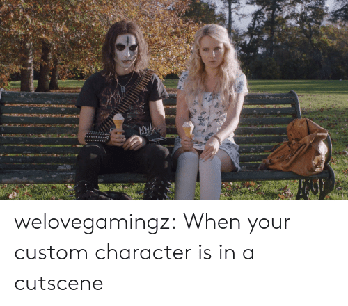 Character Is: welovegamingz:  When your custom character is in a cutscene