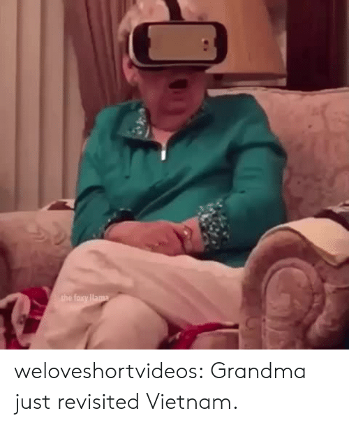 Grandma, Target, and Tumblr: weloveshortvideos:  Grandma just revisited Vietnam.