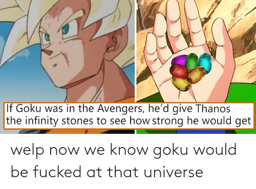 Goku: welp now we know goku would be fucked at that universe