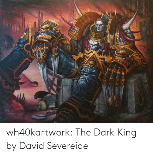 the dark: wh40kartwork:  The Dark King  by David Severeide