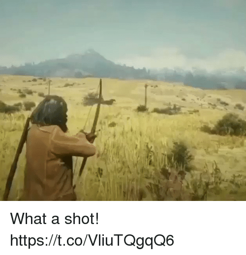 What, Shot, and What A: What a shot! https://t.co/VliuTQgqQ6