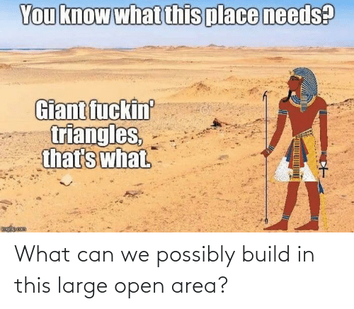 Can We: What can we possibly build in this large open area?