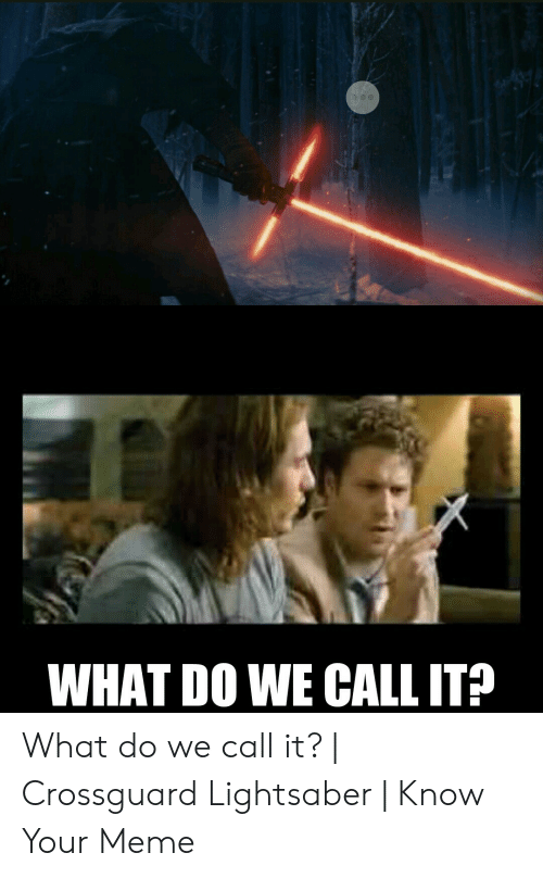 crossguard lightsaber: WHAT DO WE CALL IT? What do we call it?   Crossguard Lightsaber   Know Your Meme