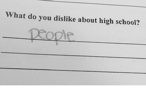 School, High School, and You: What do you dislike about high school?