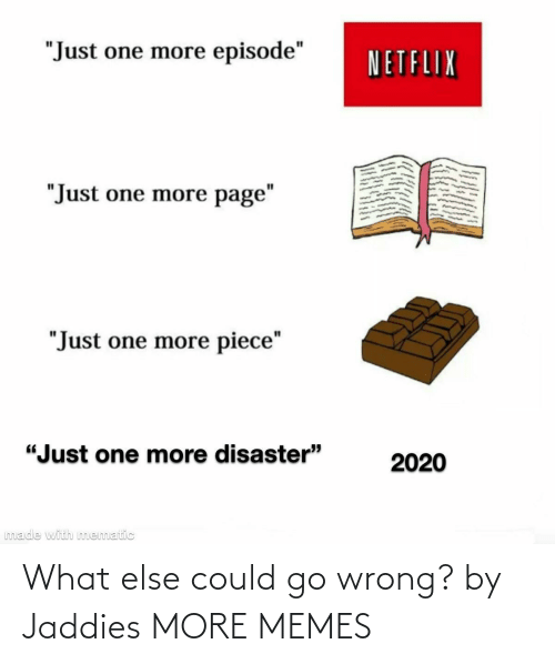 wrong: What else could go wrong? by Jaddies MORE MEMES