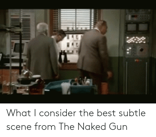 subtle: What I consider the best subtle scene from The Naked Gun