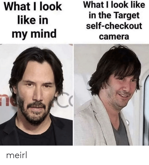 Target, Camera, and Mind: What I look like  in the Target  What I look  like in  self-checkout  my mind  camera meirl