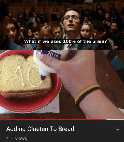Brain, Bread, and What: What if we used 100% of the brain?  Adding Glueten To Bread  411 views