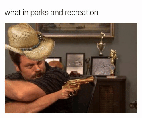 Parks and Recreation: what in parks and recreation