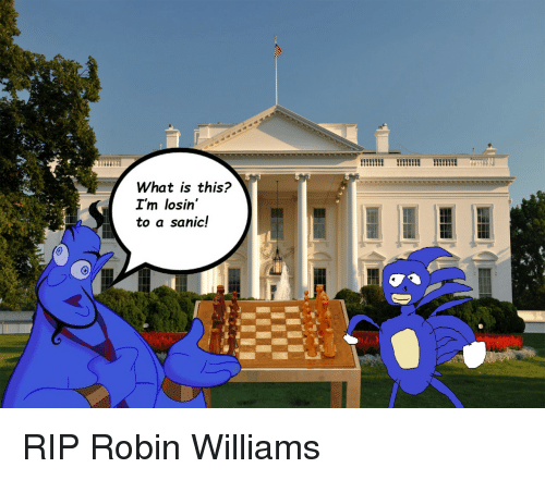 sanic: What is this?  I'm losin'  to a sanic! <p>RIP Robin Williams</p>