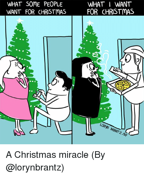 Christmas, Memes, and 🤖: WHAT SOME PEOPLE  WANT FOR CHRISTMAS  WHAT I WANT  FOR CHRISTMAS  フ  BF A Christmas miracle (By @lorynbrantz)