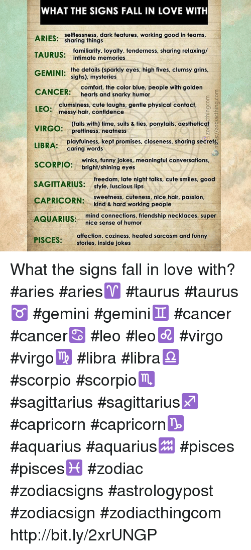 WHAT THE SIGNS FALL IN LOVE WITH ARIES Selflessness Dark