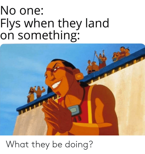 What They: What they be doing?