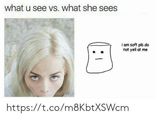What U See Vs What She Sees: what u see vs. what she sees  23  i am soft pls do  not yell at me https://t.co/m8KbtXSWcm