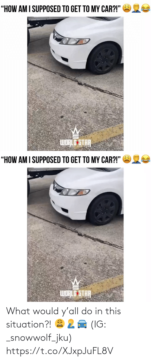 Ÿ˜˜: What would y'all do in this situation?! 😩🤦♂️🚘 (IG: _snowwolf_jku) https://t.co/XJxpJuFL8V