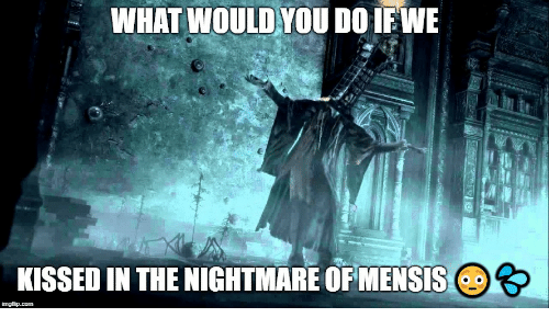 Nightmare, You, and What: WHAT WOULD YOU DO IFEWE  KISSED IN THE NIGHTMARE OF MENSIS