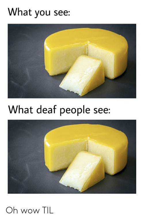 Reddit, Wow, and Til: What you see:  What deaf people see: Oh wow TIL