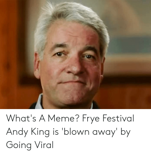 Andy King: What's A Meme? Frye Festival Andy King is 'blown away' by Going Viral
