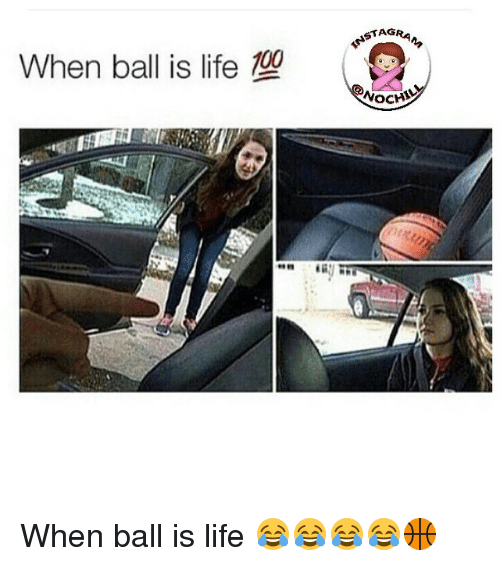 When Ball Is Life: When ball is life 100  TAG  NOCHY When ball is life 😂😂😂😂🏀