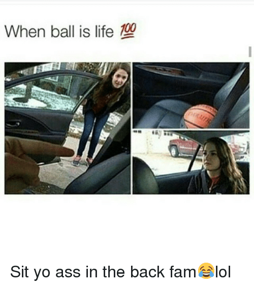 When Ball Is Life: When ball is life Sit yo ass in the back fam😂lol