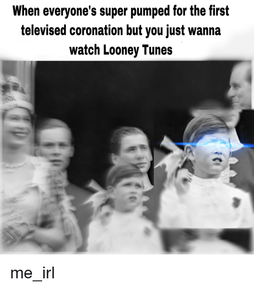 Looney Tunes, Watch, and Irl: When everyone's super pumped for the first  televised coronation but you just wanna  watch Looney Tunes