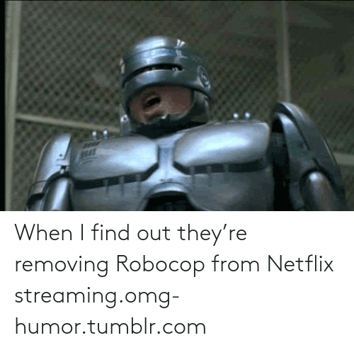 RoboCop: When I find out they're removing Robocop from Netflix streaming.omg-humor.tumblr.com