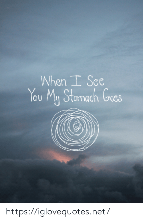Net, Stomach, and You: When I See  You My Stomach Goes https://iglovequotes.net/