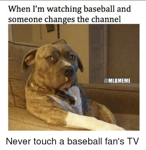 baseballs: When I'm watching baseball and  someone changes the channel  @MLBMEME Never touch a baseball fan's TV