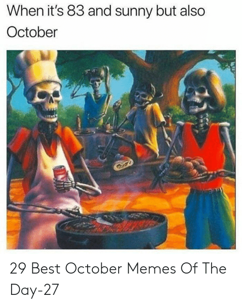 Memes, Best, and Sunny: When it's 83 and sunny but also  October 29 Best October Memes Of The Day-27