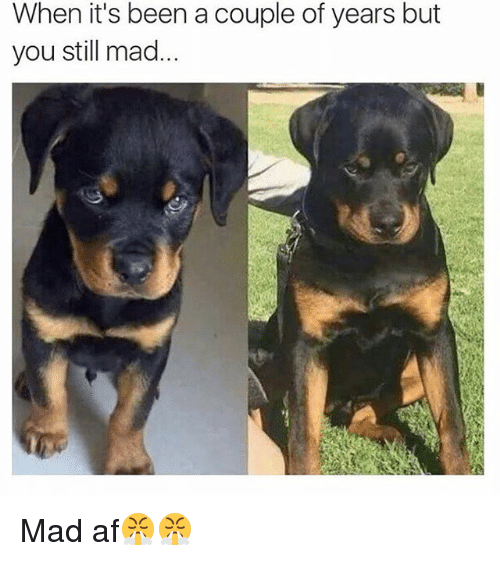 Af, Funny, and Mad: When it's been a couple of years but  you still mad... Mad af😤😤