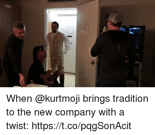 With A Twist: When @kurtmoji brings tradition to the new company with a twist: https://t.co/pqgSonAcit