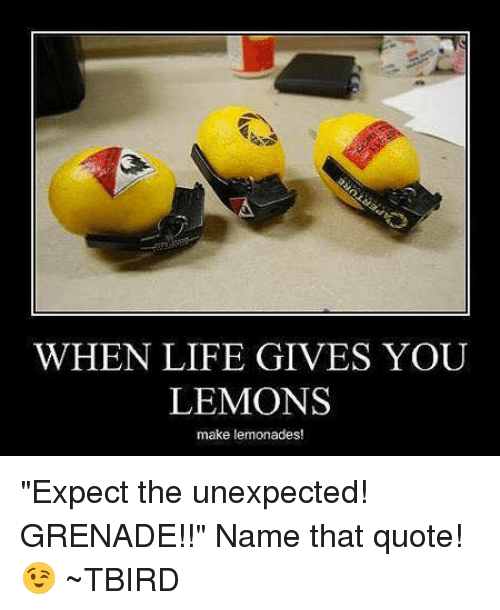 When Life Gives You Lemons Make Lemonades Expect The Unexpected