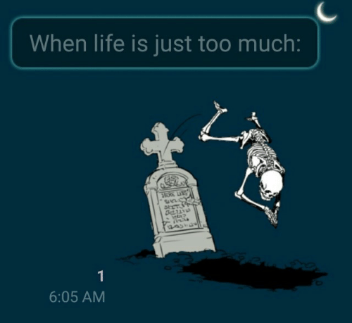 Life, Too Much, and Just: When life is just too much:  HERE LE  1  6:05 AM
