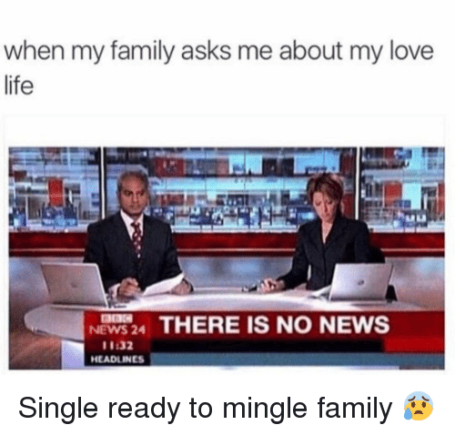 ready to mingle: when my family asks me about my love  life  NEWS 24 THERE IS NO NEWS  11:32  HEADLINES Single ready to mingle family 😰