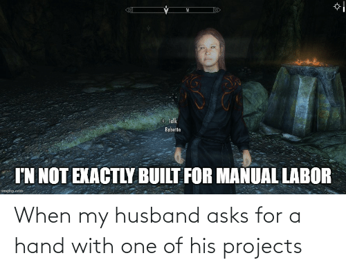 My Husband: When my husband asks for a hand with one of his projects